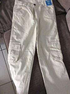 neuf-GYMBOREE-pantalon-cargo-en-toile-beige-10-ans