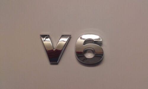 New Chrome 3D Self-adhesive Car Letters badge emblem sticker Spelling V6
