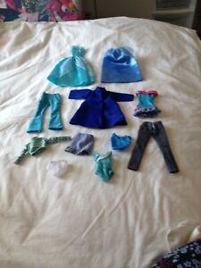 Barbie Cindy Disney Sized Clothes Bundle Lot Blue Ebay