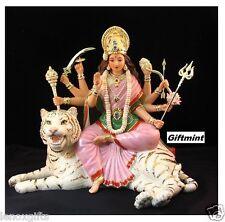 "Lenox HINDU DURGA Lady GODDESS Asian TIGER Sculpture 4.75"" WOMAN GOD New"