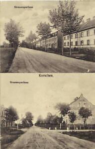 Strassenansichten-Korschen-Ostpreussen-Krs-Rastenburg-Ak-um-1910-Korsze