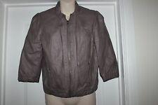Ladies Brown Only PU Jacket Edge Collection Coat