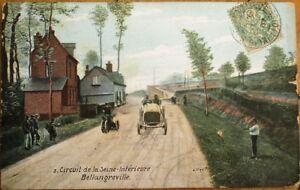 French-Car-Race-1907-Postcard-Circuit-de-la-Seine-Inferieure-Bellangreville