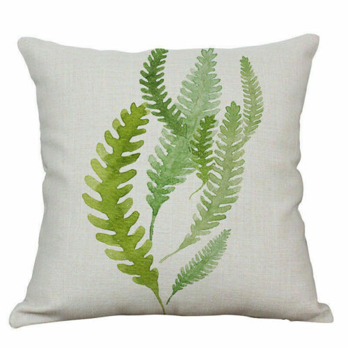 Tropical Plant Leaf Cotton Linen Sofa Cushion Cover Home Decor Pillow Case gift