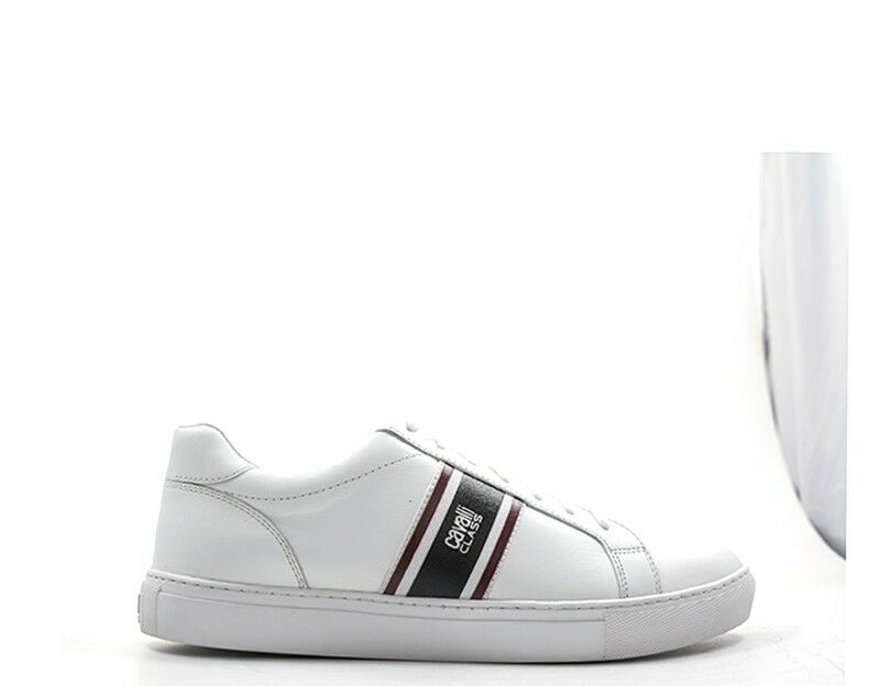 Chaussures CAVALLI CLASS hommes baskets trendy  BIANCO  GSS008-PZ28700052