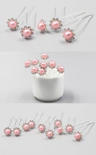 Ofertas 10 unidades pelo aguja pelo joyas para boda de fiesta perla pedrería u-form