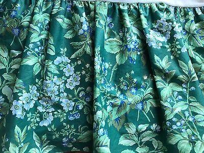 EUC! Vtg Laura Ashley Berry Bramble Floral FULL Size Bed Skirt Made Cottage