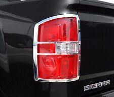 FITS GMC SIERRA 1500 2014-2015 ABS CHROME TAIL LIGHT TRIM BEZELS 2PCS