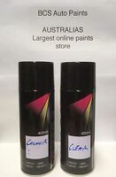 Car Touch Up Paint Spray Kit - 2 X Cans - Mitsubishi Gold 1 Pearl Code -