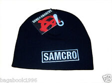 SOA Sons of Anarchy SAMCRO Toque / Beanie  (Crooked Logo Clearance)  NEW CAP16a