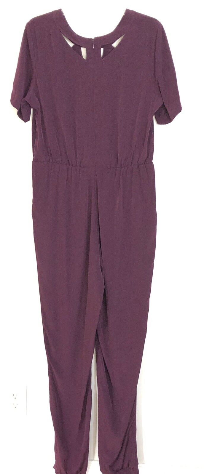 Womens Long Tall Sally Berry Cut Out Jumpsuit Size US 10