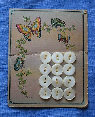 Persian deco graphic 8049 Antique mother of pearl shell button card