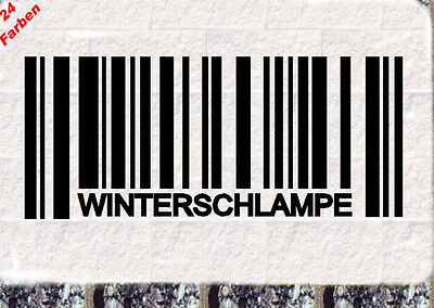 Winterauto Schlampe Daily Bitch Barcode Strichcode Fun Sticker