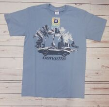 T-shirt CHEVROLET CORVETTE Shark con cartellino ORIGINALE GM azzurra M