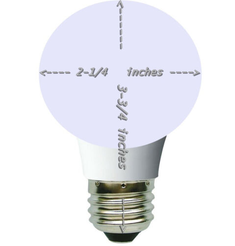 LED Dimmable 7w Small Vanity Globe Bulbs G19 A19 24x Warm White E26 2-1//2 in