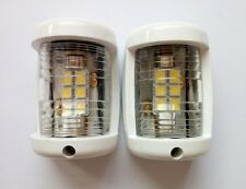 Marine Boat Yacht Mini Masthead/Stern Navigation Light White 12V LED OnePair