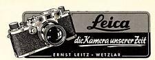 1950 Leica Wetzlar Kamera unserer Zeit 14x5 cm original Printwerbung