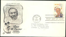 #1355 Walt Disney 1968 Ayerst Cachet typed address First Day Cover  LOT 1176