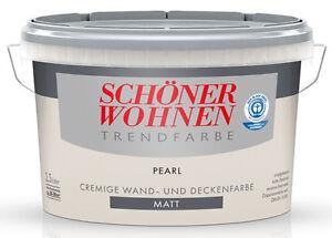 Das Bild Wird Geladen Schoener Wohnen Trendfarbe Pearl Matt 2 5 L