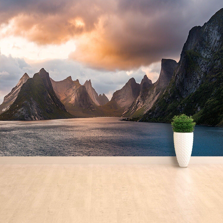 Fototapete Selbstklebend Einfach ablösbar Mehrfach klebbar Lofoten Norwegen
