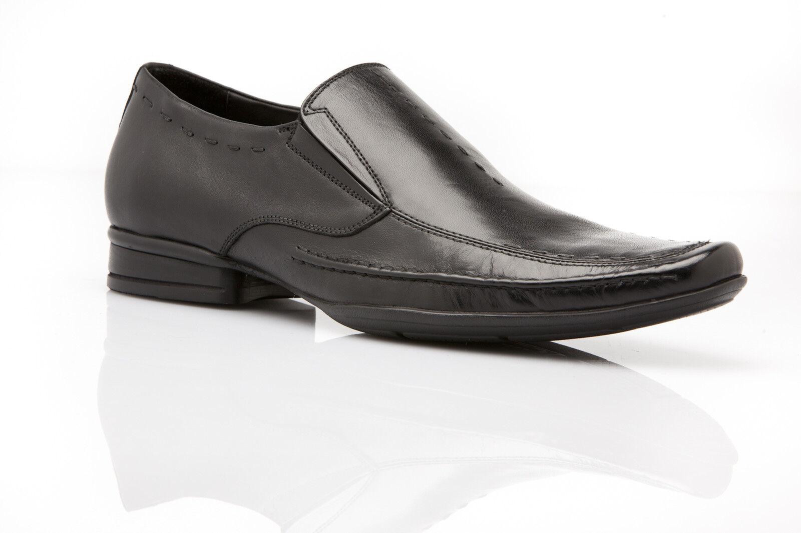 NEW MENS AUSTRALIAN DESIGN ZASEL DRESS schwarz LEATHER LOAFERS DRESS FORMAL schuhe