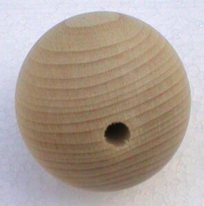 Holzkugeln-50-mm-Kugel-mit-kompletter-Bohrung-Buche-natur-Rohholzkugeln