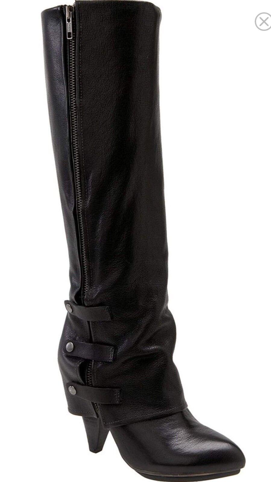 Raro Miss Miss Miss Sixty Harper Negro Cuero botas Talla 40 precio minorista sugerido por el fabricante  260. Sexy 7372cb