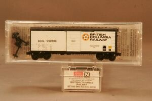 Spirited Micro-trains 40' Boxcar British Columbia Bcol 990198 Mt 073 00 060 0311-12 N Scale