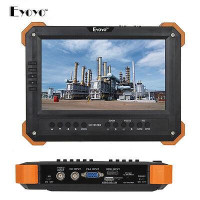 """EYOYO X41TA 7"""" LCD HD-TVI+AHD2.0 HD.MI+VGA+CVBS Camera Video Test Tester 12V-Out"""