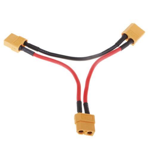 1 XT60 Fiche Mâle à 2 XT60 Fiche Femelle 14AWG Câble Connecteur de