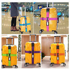 Travel Luggage Adjustable Suitcase Baggage Bag Cross Strap Belt Clasp W/ Lock