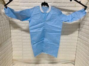 Lakeland M81440KC Protective Clothing Suit Lab Coat PPE Blue XL 10pcs No Pocket