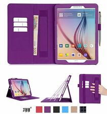 Samsung Galaxy Tab S2 9.7 PU Leather Case Card Slots Note Holder Hand Strap