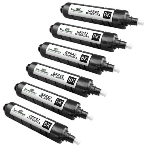 6PK Compatible Black Laser Toner Cartridge for Canon 4791B003AA GPR-42