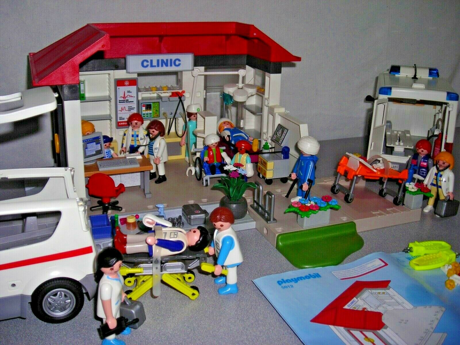 Playmobil   figurines   accessoires   Clinic   ambulances   Hopital