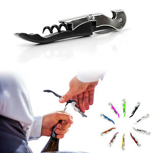 Cork Screw Wine Bottle Opener Professional Stainless Steel Metal Waiters Friend