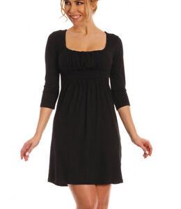 cb32ae2ad94 Robe noire courte sexy évasée femme décolleté carré S011 2XL 40 4XL ...