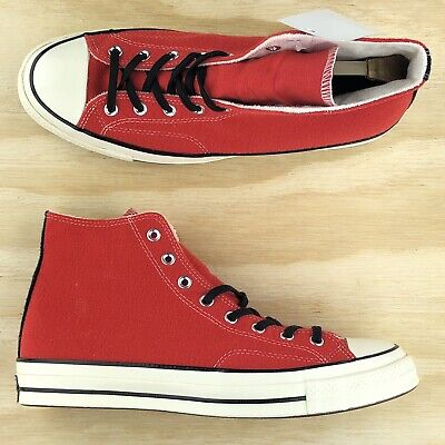 Converse Chuck Taylor All Star 70 Hi Top Red Orange White Shoes 153982C Sz 11.5