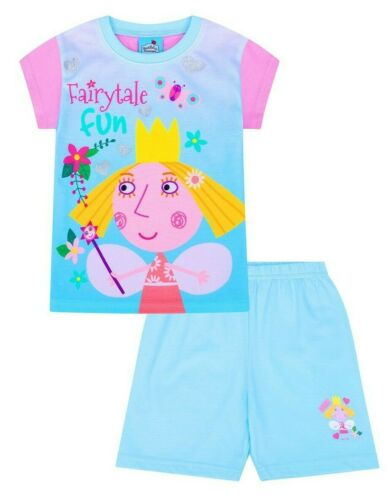 Girls Ben and Holly Fairytale Fun  Short Pyjamas Ages 1-6 Years Kids PJ Sets
