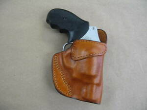 Details about Charter Arms Bulldog Leather 1 Slot OWB Belt Concealment  Holster CCW - TAN RH