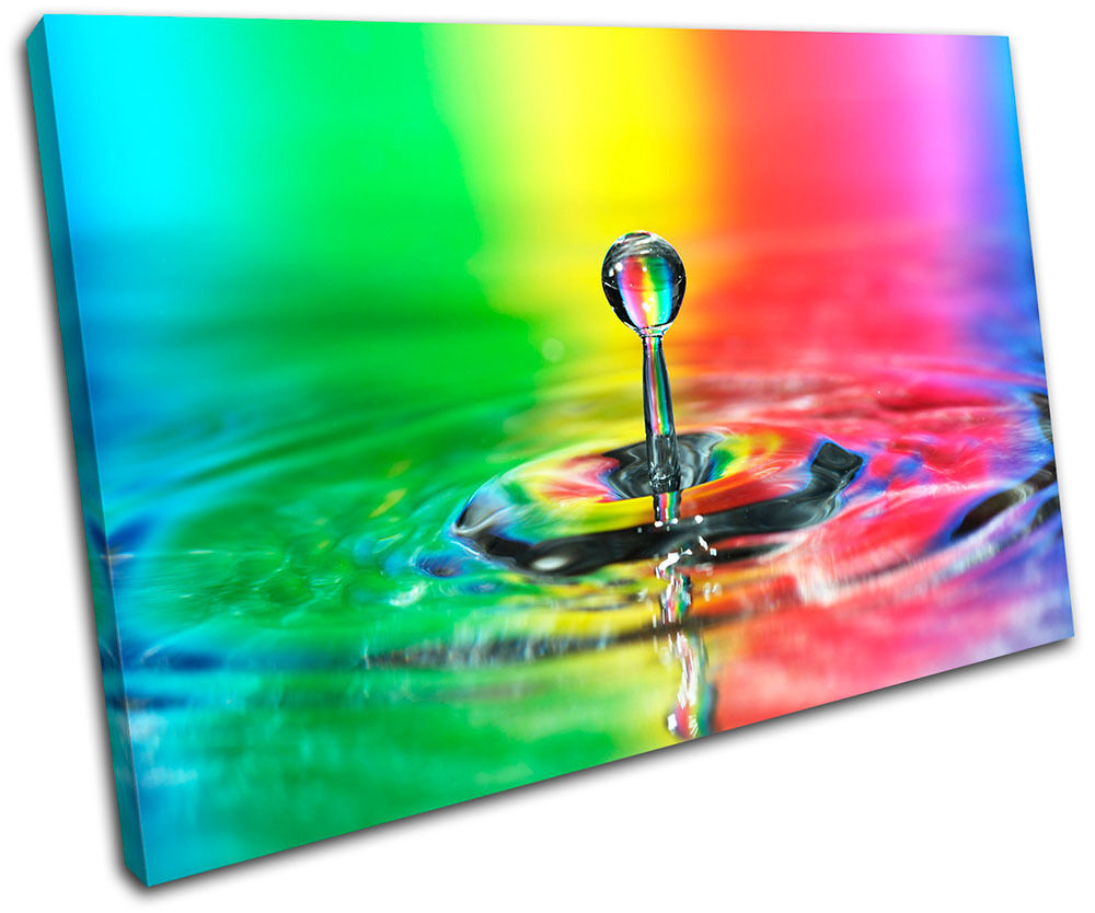 Droplet Water Rainbow Abstract caliente Concept Canvas Art Picture Print Wall P caliente Abstract o 04041e