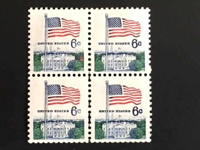 Errors, Freaks, Oddities Us 1338a = 6c Whitehouse Flag Coil Error Pair = Mint Vf Og Nh = Efo Easy To Use Stamps