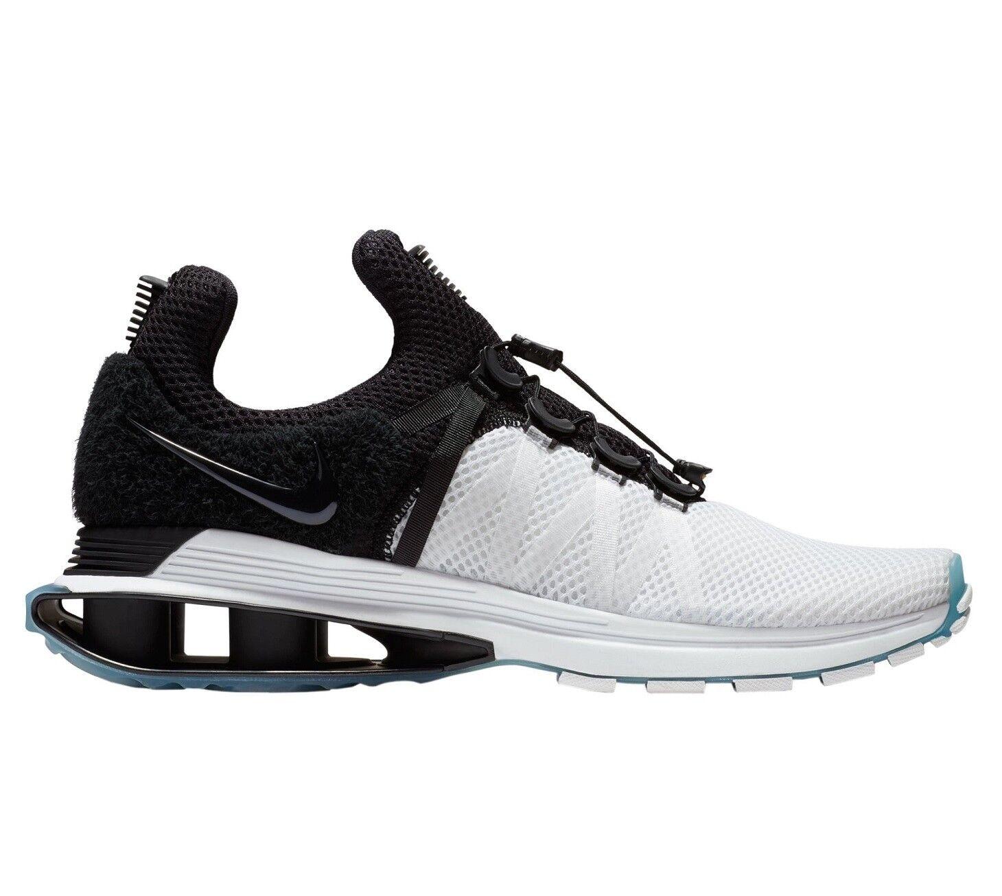 Nike Shox Gravity Mens AR1999-101 White Black Mesh Running Shoes Size 13