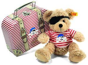 Steiff® 111266 Teddy Bear Fynn Pirate Dans Une Valise, Beige 28 Cm Nouvelle rareté non utilisée