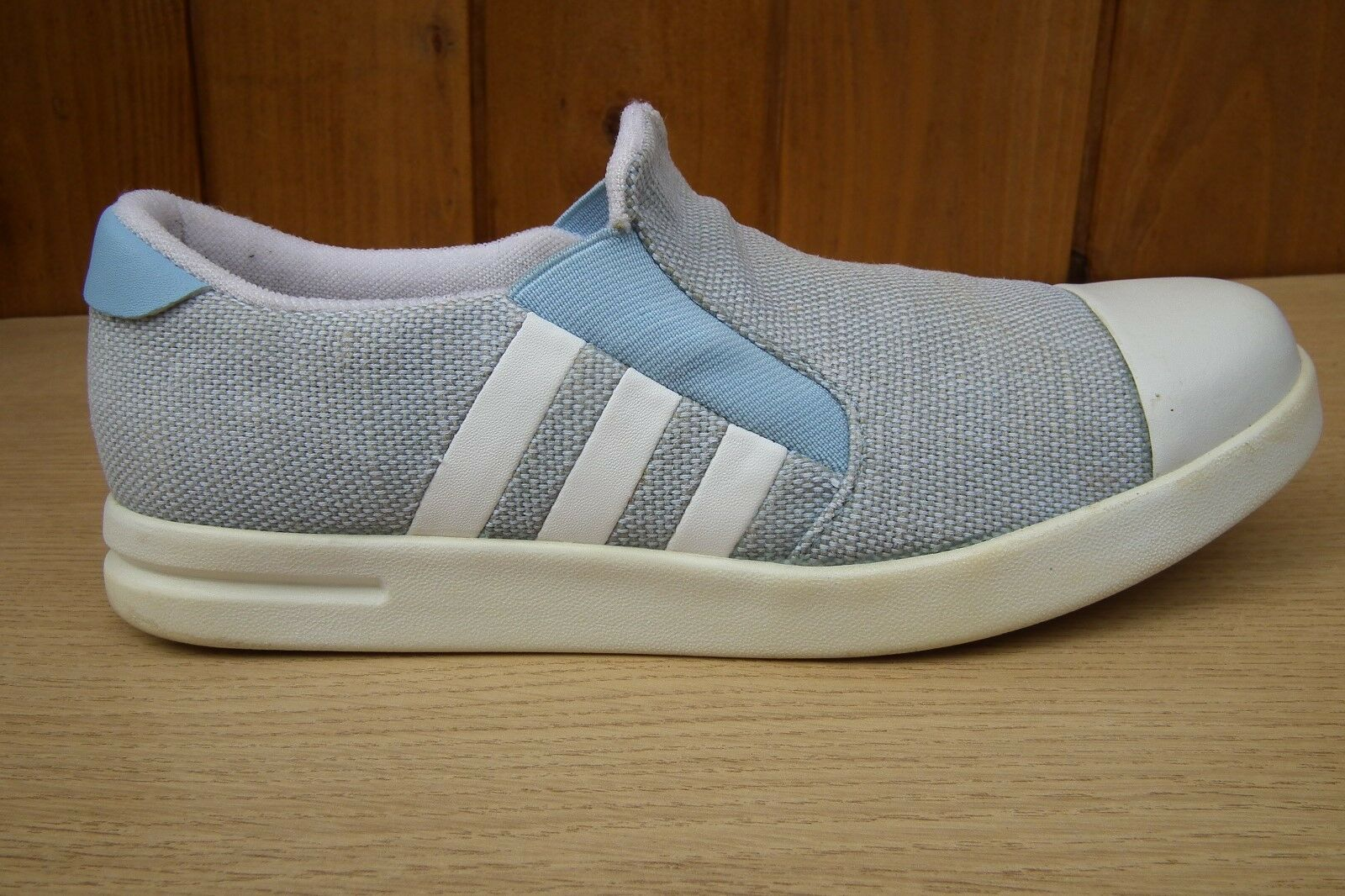 ADIDAS DNS 642001 bluee Grey White Slip-on shoes Trainers Size