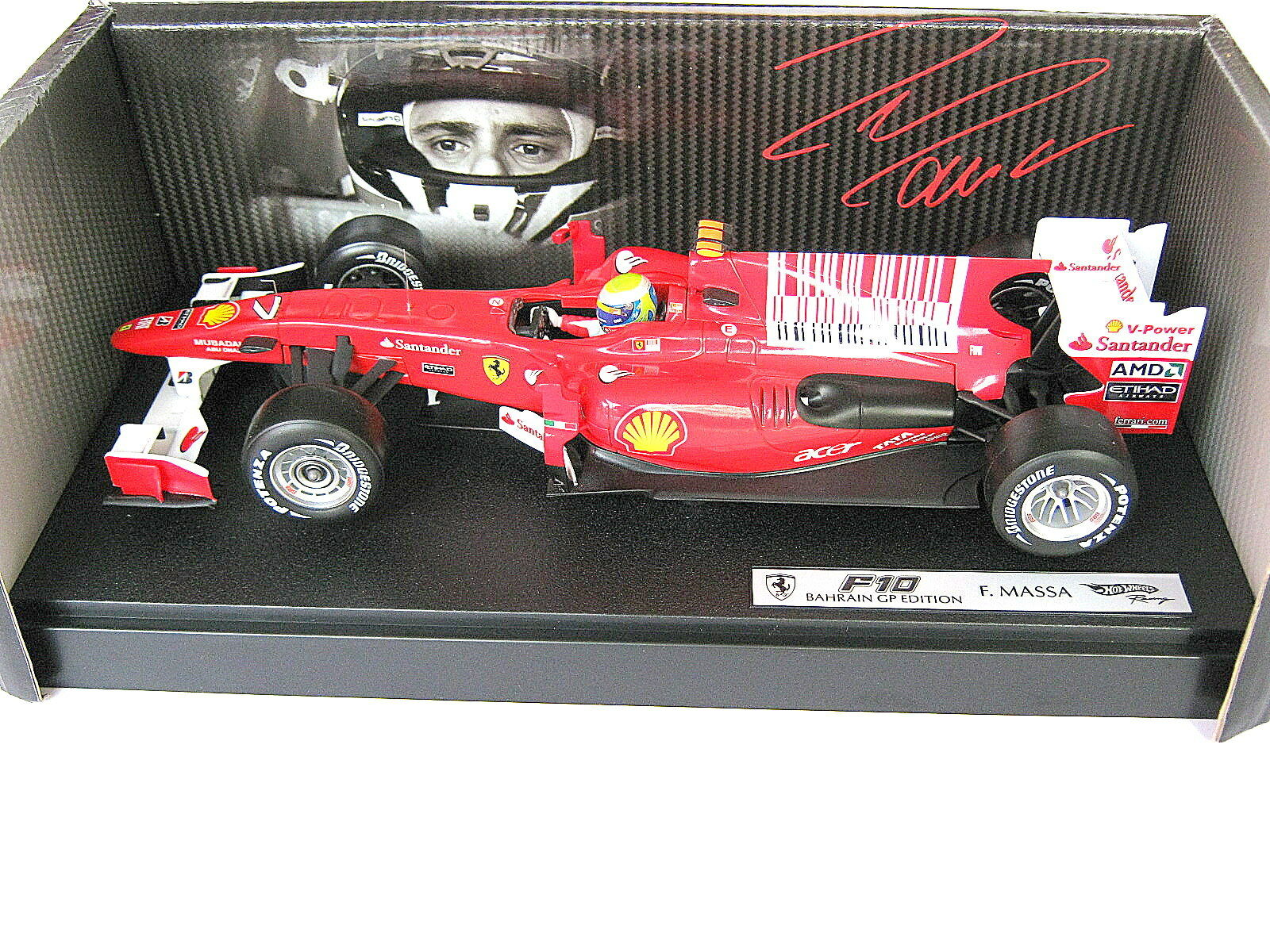 Ferrari f10 Felipe Massa code-barres f1 GP Bahreïn 14.03.2010 HW t6288  7 1 18 neuf dans sa boîte