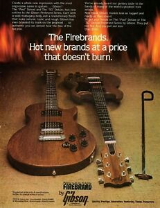 GIBSON-FIREBRANDS-MAGAZINE-AD-PINUP-vtg-80s-Mahogany-Guitar-Led-Paul-Deluxe-SG