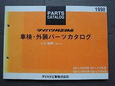 JDM DAIHATSU MIRA L700 L710 Japanese Kei Car Original Genuine Parts List Catalog