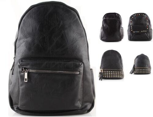 Zaini zaino uomo donna in pelle vegan nero cuoio con borchie borchiati vari tipi