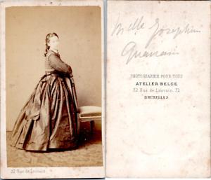 CDV-Bruxelles-Femme-nommee-Melle-Josephine-Quanain-circa-1865-Vintage-CDV-albu